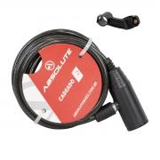 Cadeado CHAVE 1,5m X 6mm Absolute Espiral Preto