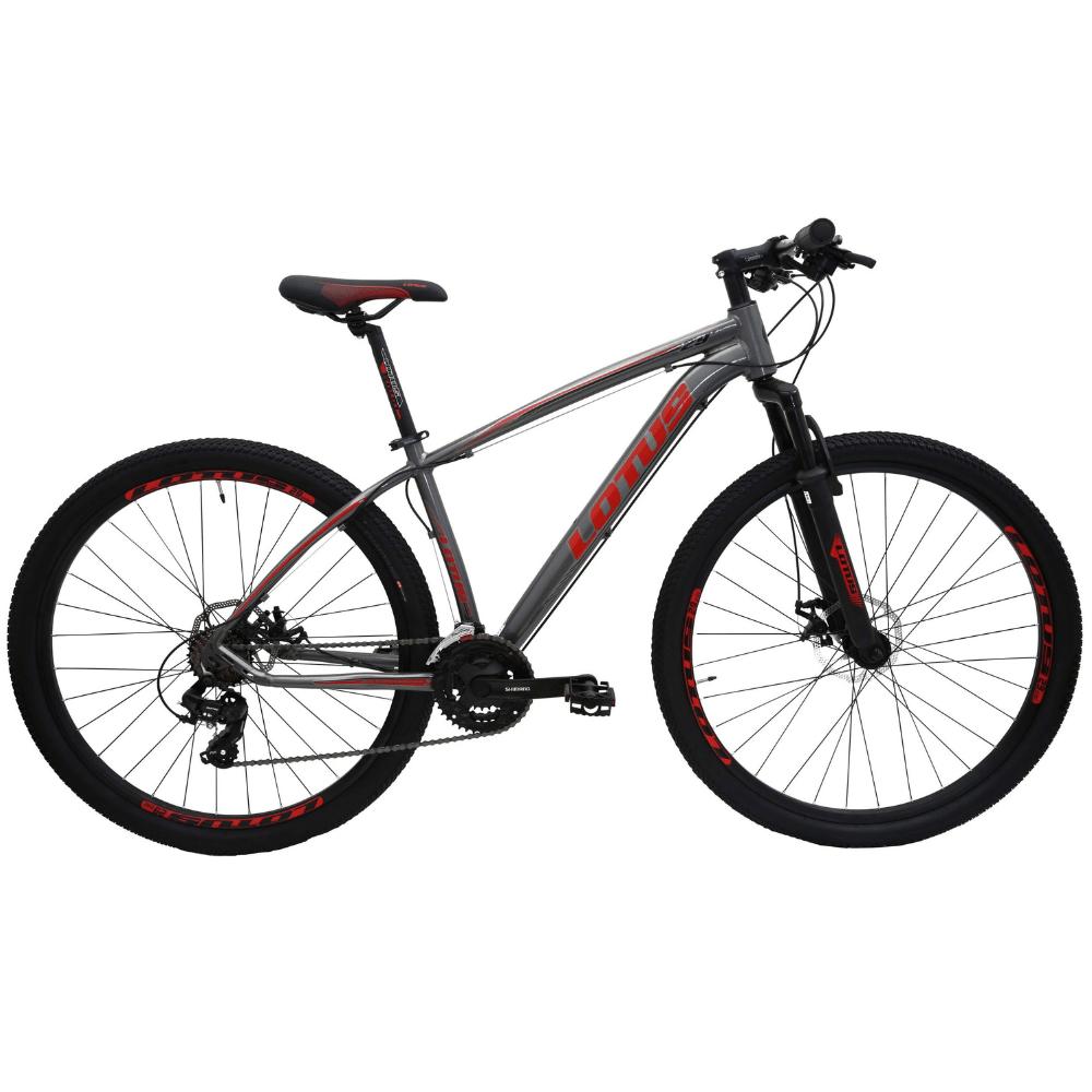 Bicicleta 29 Lotus ALUMINIUM 21v Cinza/Vermelho