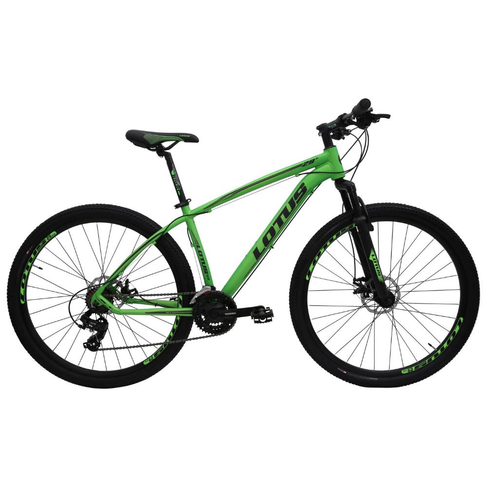 Bicicleta 29 Lotus ALUMINIUM 21v Verde F/Preto