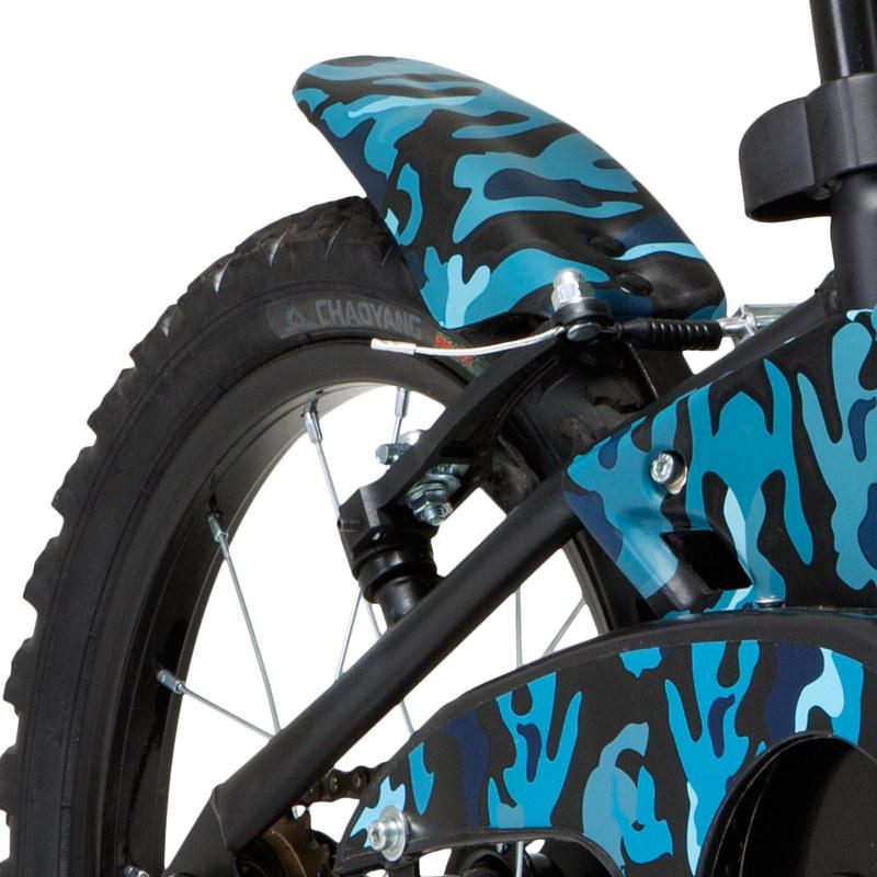 Bicicleta GROOVE aro 16 CAMUFLADA T16 - Preto/Azul