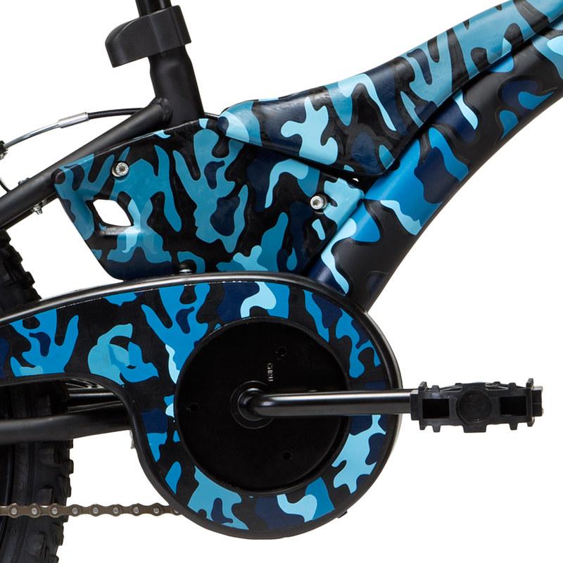 Bicicleta GROOVE aro 20 CAMUFLADA T20 - Preto/Azul