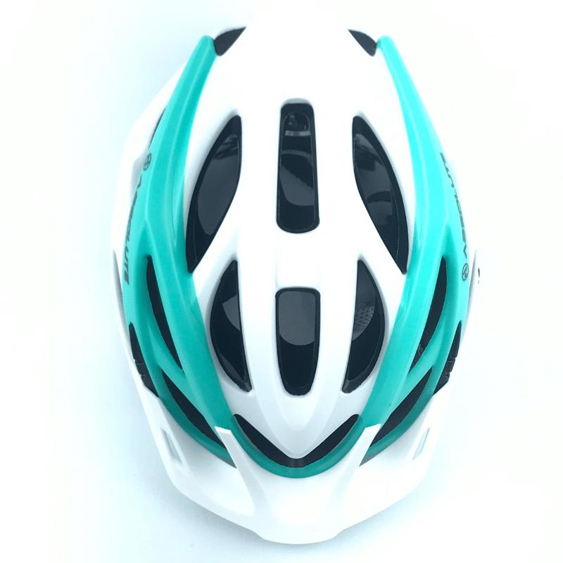 Capacete Absolute LUNA c/ Led - Branco/Verde