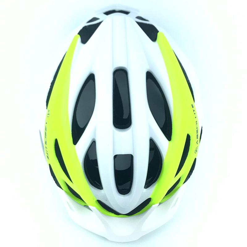 Capacete Absolute WILD c/ Led - Branco/Amarelo Neon
