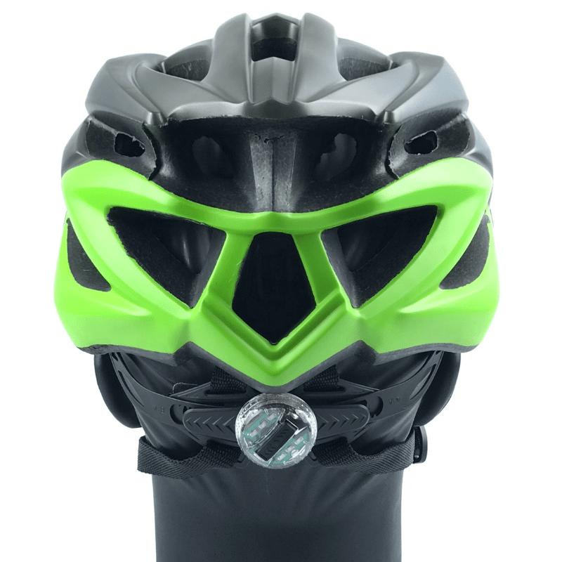 Capacete Absolute WILD c/ Led - Cinza/Verde fosco