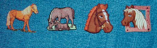 Aplique Bordado em Tecido Cavalinho no Quadro