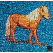 Aplique Bordado em Tecido Cavalinho Laranja
