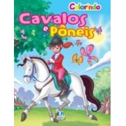 Livro Colorindo Cavalos e Pôneis