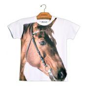 Camiseta Infantil Cavalo Castanho
