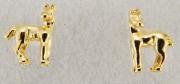 Brinco potrinho em pé dourado HER 1004 E HER1301