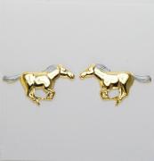 Brincos cavalo correndo - Com dourado e prateado - HER1710
