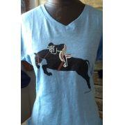 Camiseta cavalo saltando