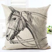Capa de Almofada cavalo com cabeçada