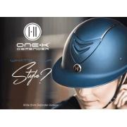 Capacete OneK - Avance Wide Brim Chrome Stripe