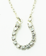 Colar cristais swarovski - Prateado - HNE733