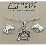 Conjunto colar e brincos - Cabeça de cavalo - HGS409