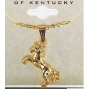 Gargantilha cavalo empinado dourado