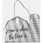 Placa decorativa - Home is where the barn is