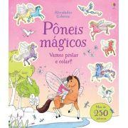Livro Pôneis Mágicos - Vamos Pintar E Colar?