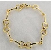 Pulseira com Bridões Pequenos - Dourada - HWB319