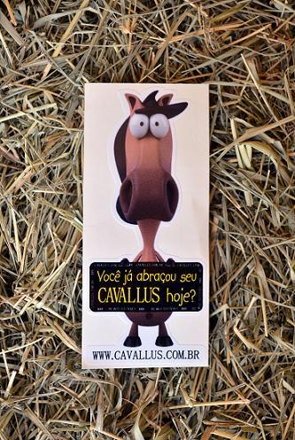 Adesivo Cavallus com Plaquinha Pq