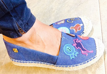 Alpargata Patches Jeans