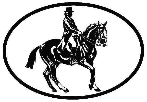 Adesivo para Carros - Cavalo de Adestramento HG