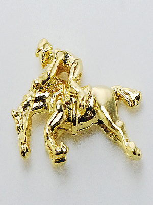 Broche cavalo saltando