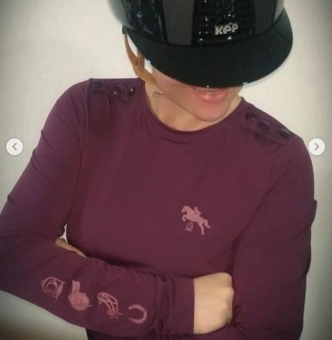 Camisa ML UV botões vinho