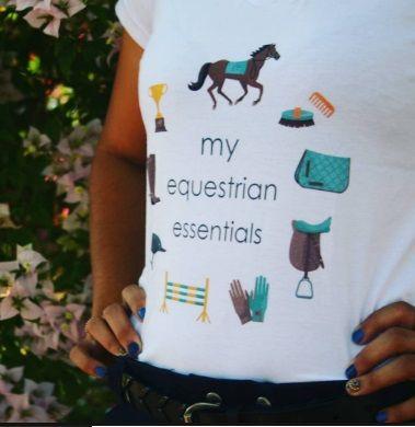 Camiseta Chevaux Tees (My equestrian essentials)