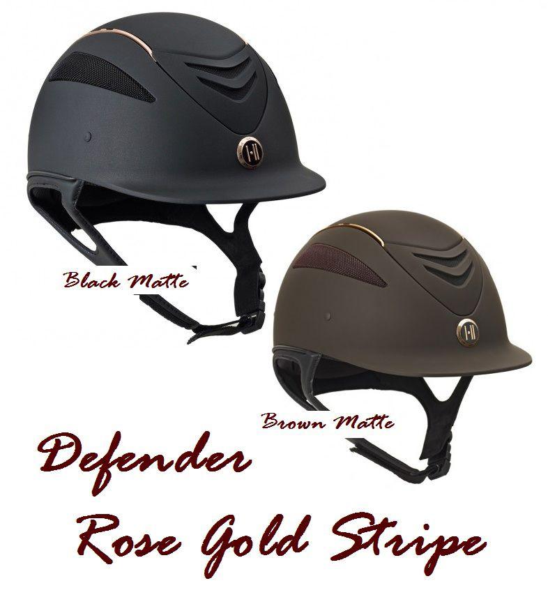 Capacete OneK - Defender Rose Gold Stripe