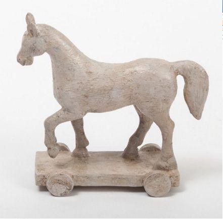 Cavalo Bege com Rodinhas