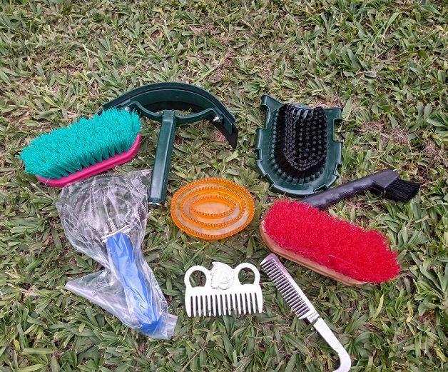 Kit de escovas para cavalo Grooming - conjunto com 10 peças