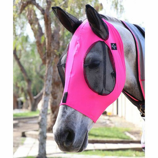 Máscara contra Moscas - ComfortFit  Lycra Fly Mask-Professional´s Choice
