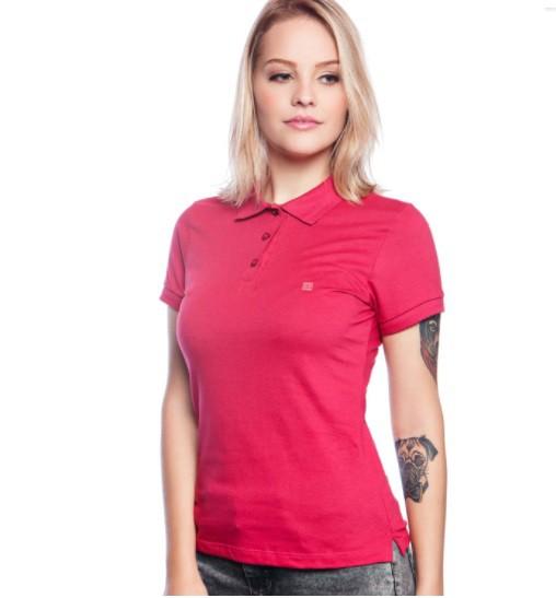 Polo Feminina Baden - Pink