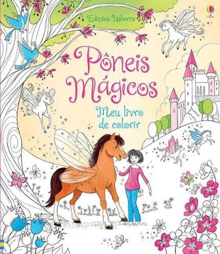 Livro Pôneis Mágicos - Meu Livro de Colorir