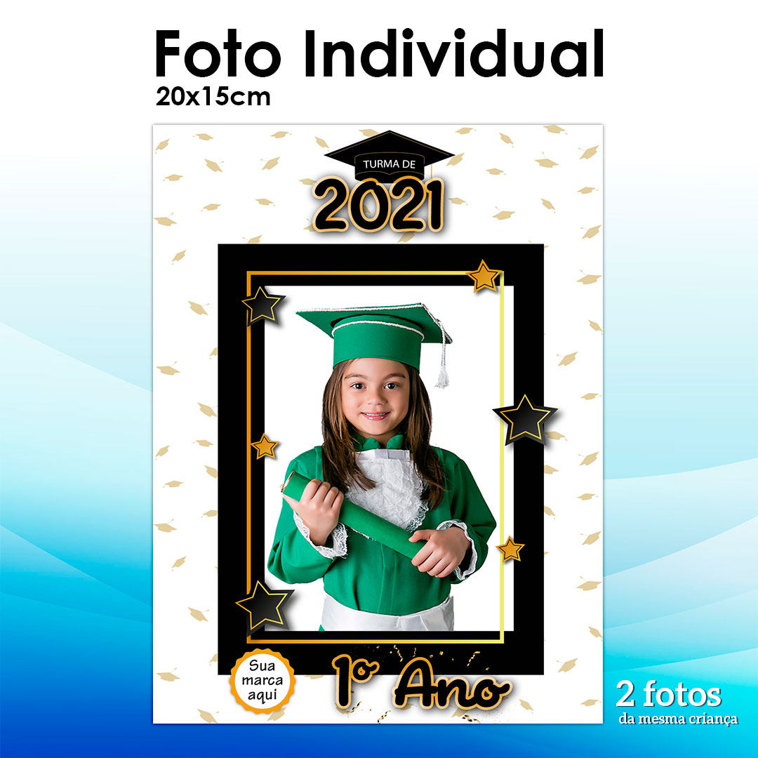 2 Fotos 15x21cm - Tema Formatura