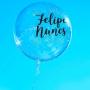 Adesivo Personalização para Balão Bubble - Nome 3