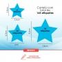 Adesivo para decoração de parede - Estrela