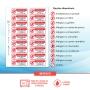 Etiqueta Alerta Alergia - com contato de Emergência