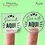 Etiqueta em Vinil Personalizada Transparente 7cm