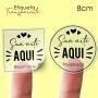 Etiqueta em Vinil Personalizada Transparente 8cm