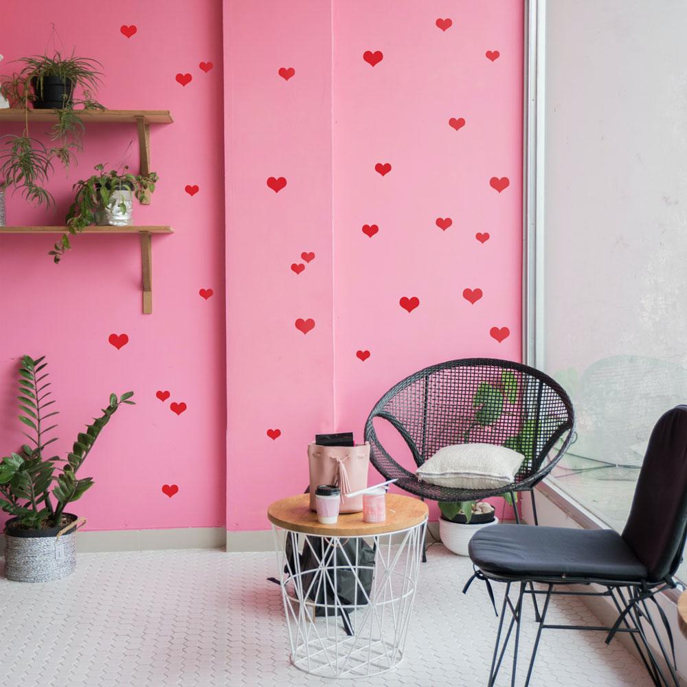 Adesivo para decoração de parede - Coração