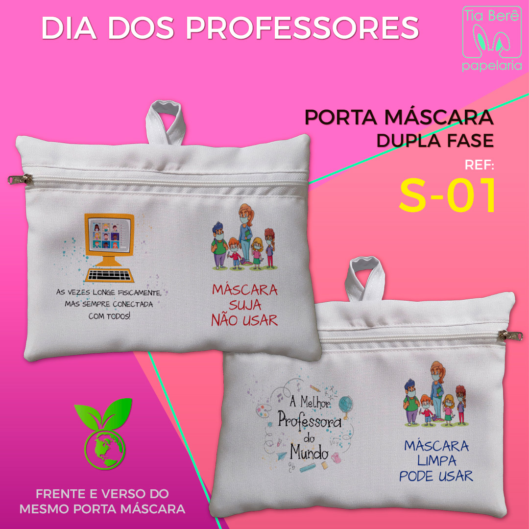 Bolsa porta Máscara - Professores
