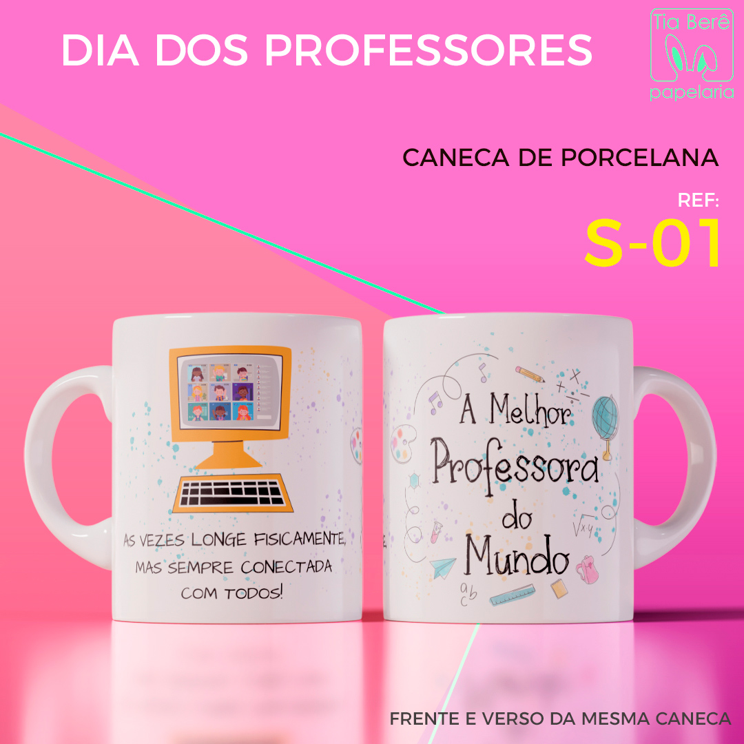 Caneca Porcelana Coleção Professores
