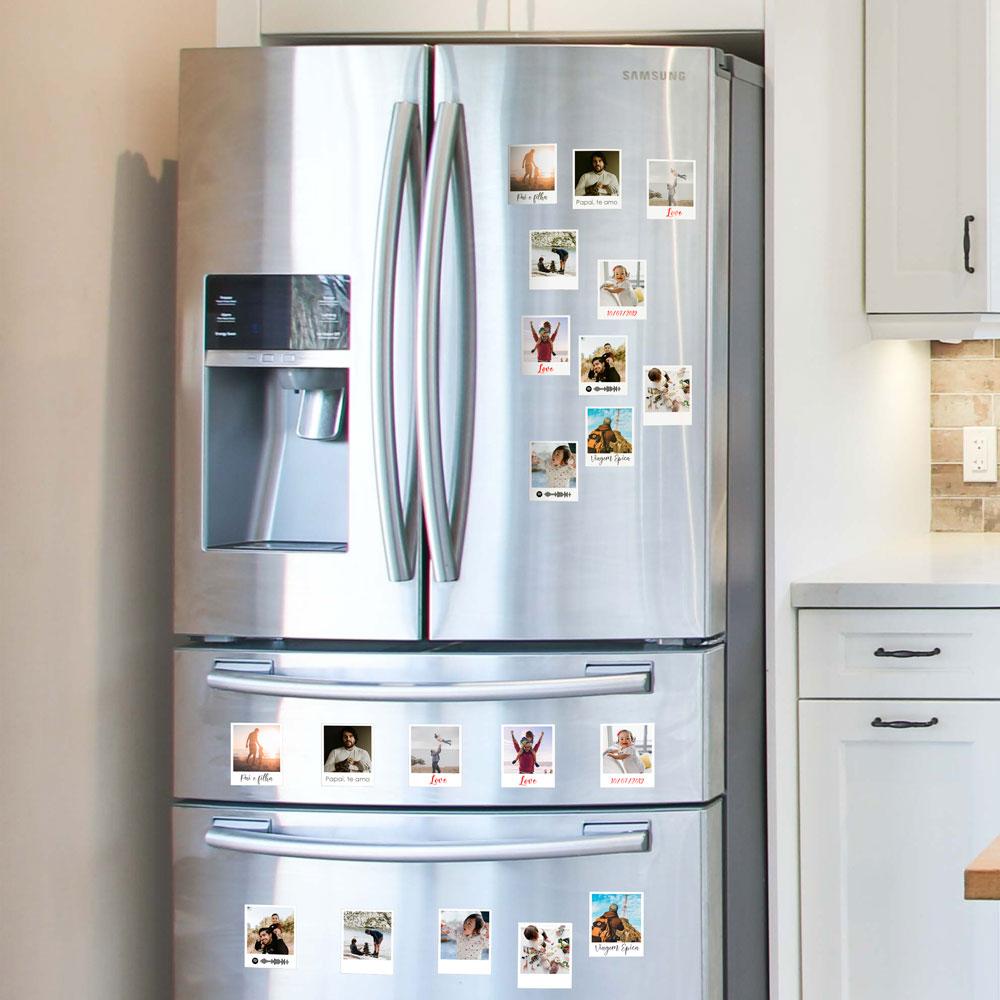 Foto Imã de geladeira - Estilo foto Polaroide COM legenda