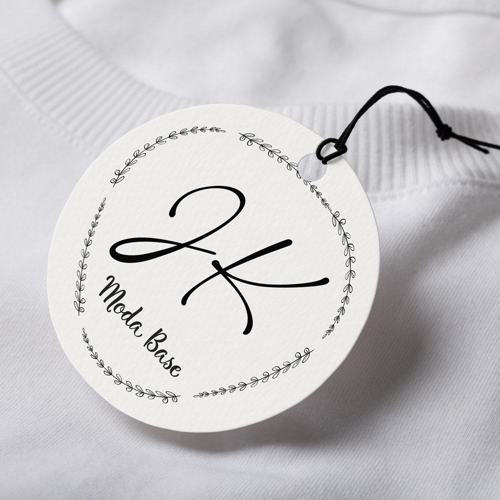 Tag Personalizada Redondo - Fundo Branco ou Colorido