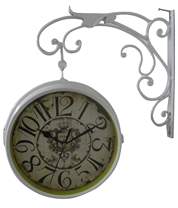 Relogio De Parede Dupla Face Paris Decorativo Retro Vintage ( rel-14 )