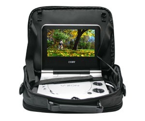 BOLSA MALETA VEICULAR P/ DVD PLAYER PORTATIL KIT LIMPEZA (DVD710-KIT) # B1.5   ok