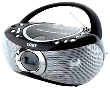 Rádio Portatil Coby CD Player USB MP3 WMA AM FM ABMIDIA