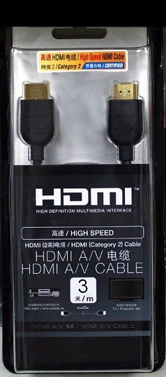 Cabo Hdmi A/v 3m Full Hd 1080p High Speed Banhado A Ouro
